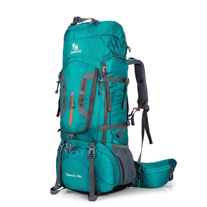 80L Tourist Rucksack Camping Hiking Military Backpack Ski Mountain Climbing Equipment Haversack Spor