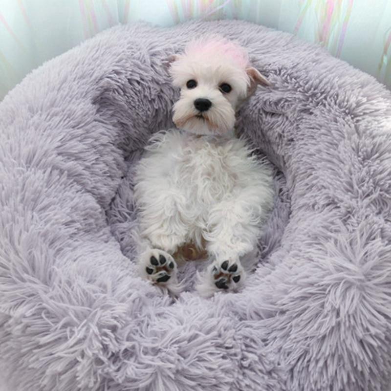 Cama de Gato de lana, cama redonda para mascotas para gatos, cama de felpa para perros, casa para gatos, gatitos, malvaviscos, manta de cama para gatos, cojín, perrera, suministros para mascotas