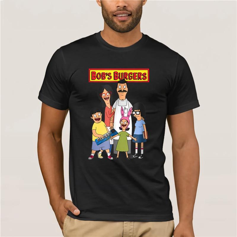 Camiseta de marca para hombre Bob s hamburguesas nueva Pose familiar con Logo Camiseta de algodón 100% camiseta de moda de verano