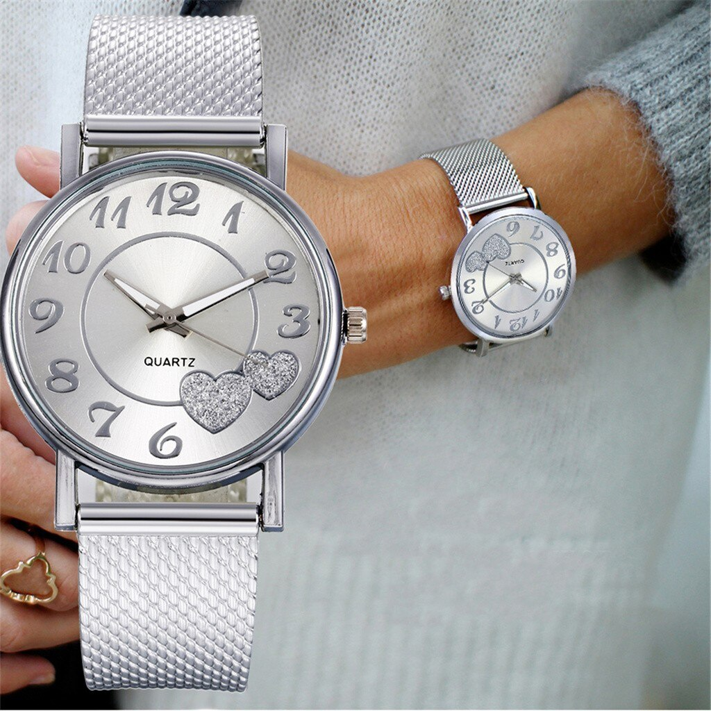 High Quality Women Quartz Wristwatches The Latest Top Fashion Ladies Mesh Belt Watch Wild Lady Creat