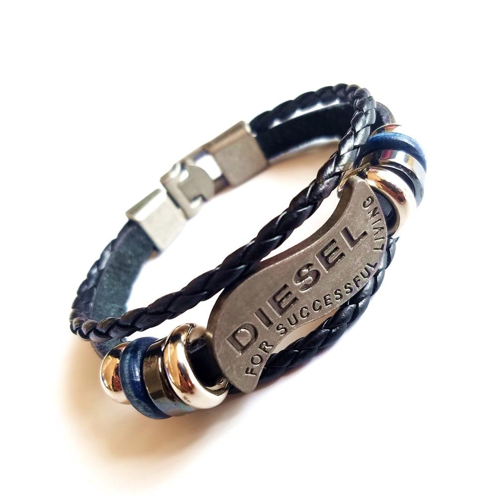 2019 Multilayer Bracelet Men Casual Fashion Braided Leather Bracelets For Women Wood Bead Bracelet Punk Rock Men Jewelry