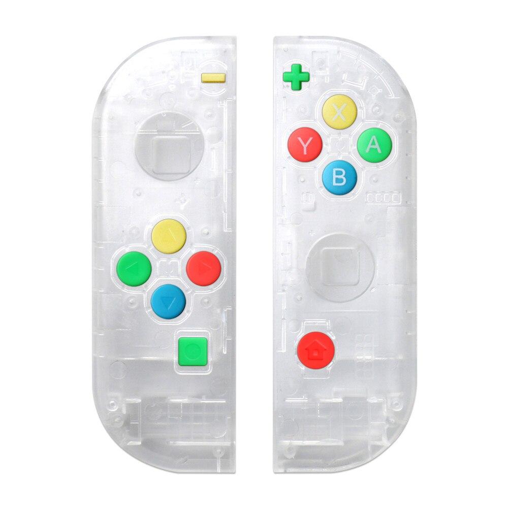 Caso protetor & botões para nintend interruptor da esquerda direita controlador ns nx console substituição colorido polegar aperto botão capa