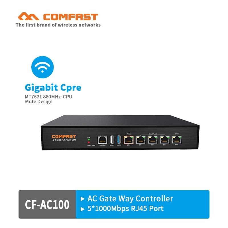 Comfast CF-AC100 880Mhz Gigabit AC Authentication Gateway Routing MT7621 Multi WAN Load balance Core Gateway wifi project router