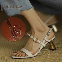 zoelea french elegant retro high heeled womens shoes 2021 summer new square toe back lattice fashion thick heeled sandals