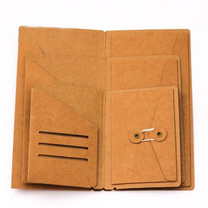1 Uds. Lindo organizador de sobres de Papel Kraft para los viajeros, recargas de agenda, tarjetas de planificador, tarjetas de pasaporte, bolsas de documentos