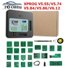 Plus récent X prog-m Xprog M V5.55 V5.74 V5.86 V6.12 ECU programmeur de réglage de puce X Prog m Box V 5.55 5.86 XPROG-M sans clé USB