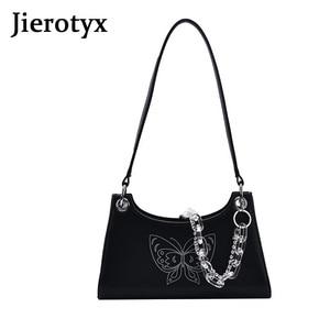 JIEROTYX 2020 New Trendy Women Bag Designer Chain Strap Shoulder Bags For Female Beading Shoulder Bags 2020 New Crossbody Bag