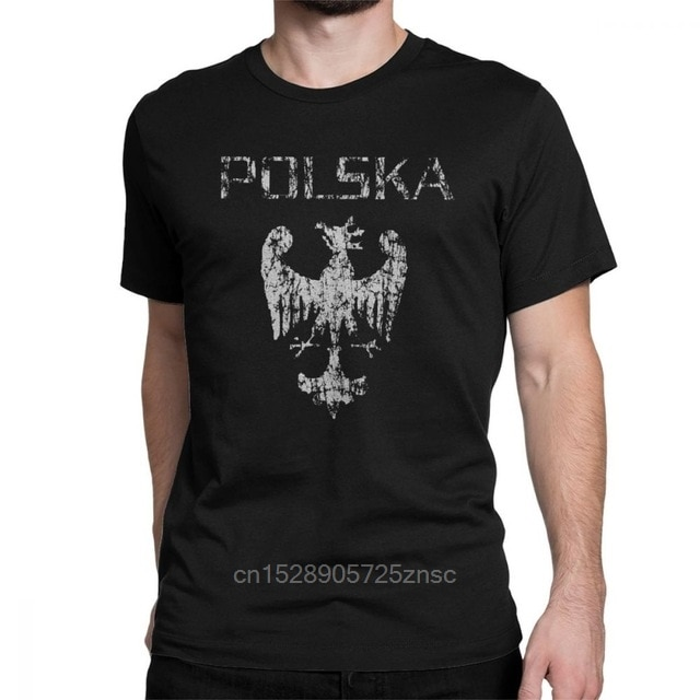 Camiseta con estampado de águila Polska para hombre, Camiseta de algodón polaco de Husaria Warszawa, divertidas camisetas con cuello redondo de manga corta, camisetas con Idea de regalo