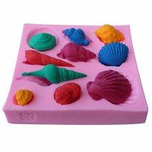 Régulière polygone pâtisserie outils de cuisson Silicone gâteau moule coquille de conque gâteau décoration Fondant fournitures de cuisson