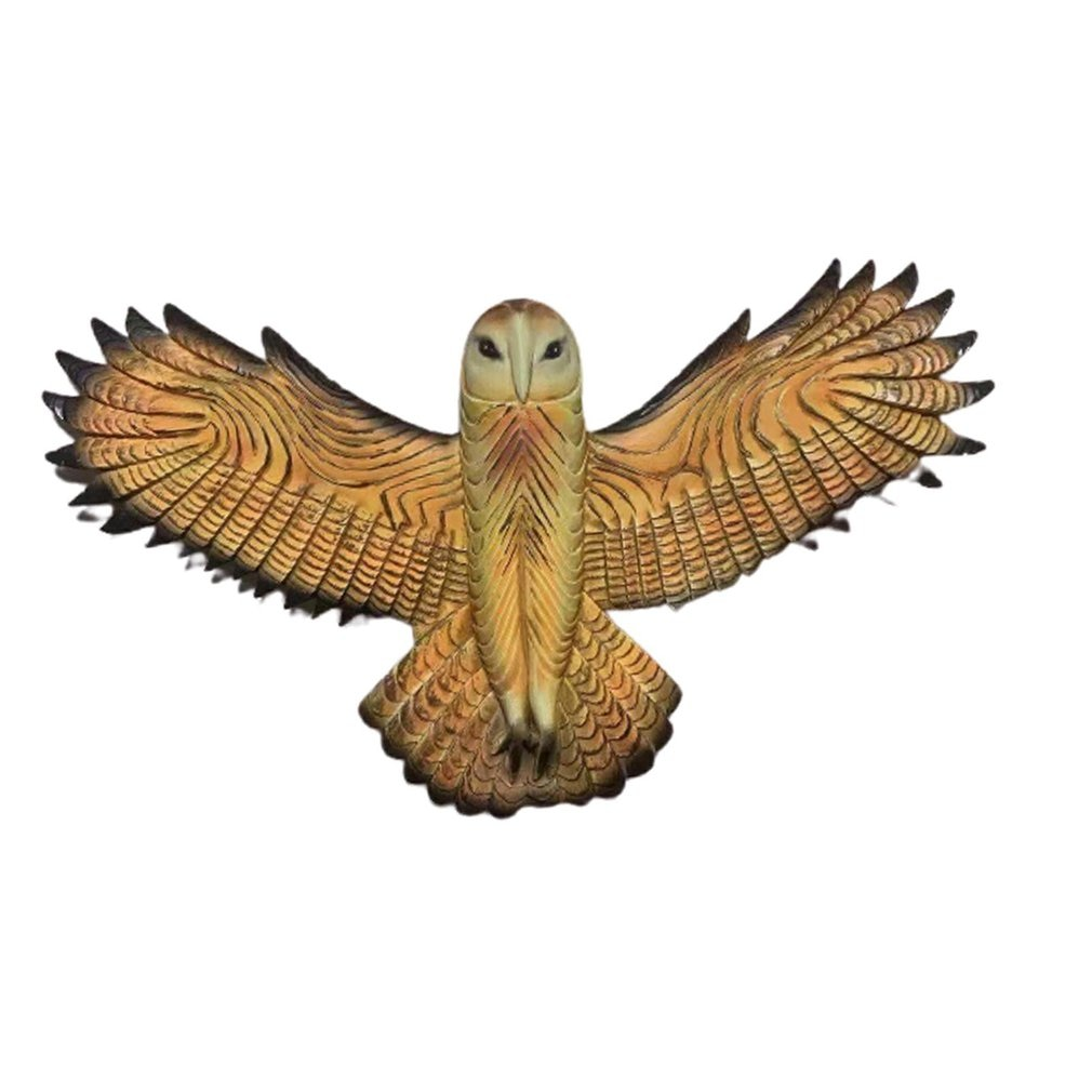 Owl Wall Statue Resin Handmade Crafts Wall Hanging Ornament For Living Room Garden Office Decoration