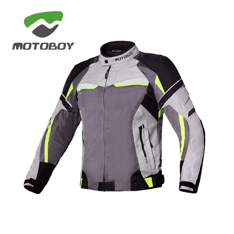 Motoboy-ملابس صيفية لركوب الدراجات للرجال ، شبكة مسامية ، مقاومة للسقوط ، معدات سباق الدراجات النارية