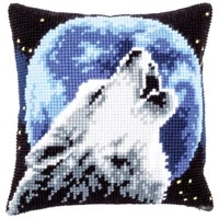 latch hook kits pillow animal wolf diy handmade printed canvas cushion latch hook kits diy unfinished accessories