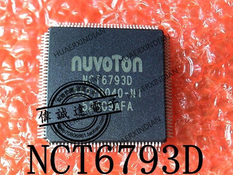 1 piezas nuevo Original NCT6793D NCT67930 NCT6793D-M TQFP128 en stock imagen real