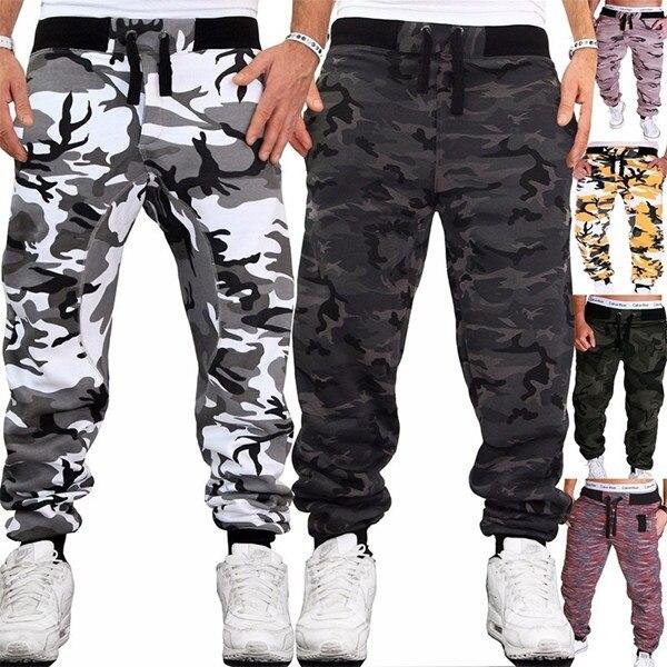 Мужские камуфляжные брюки ZOGAA, штаны для бега, спортивные штаны, армейские спортивные штаны для фитнеса и бега
