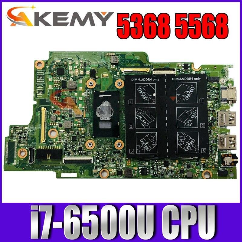 لأجهزة الكمبيوتر المحمول DELL INSPIRON 5368 5568 اللوحة الأم مع وحدة المعالجة المركزية I7-6500u CN-0PJDNR 0PJDNR PJDNR 100% تم اختبارها بالكامل