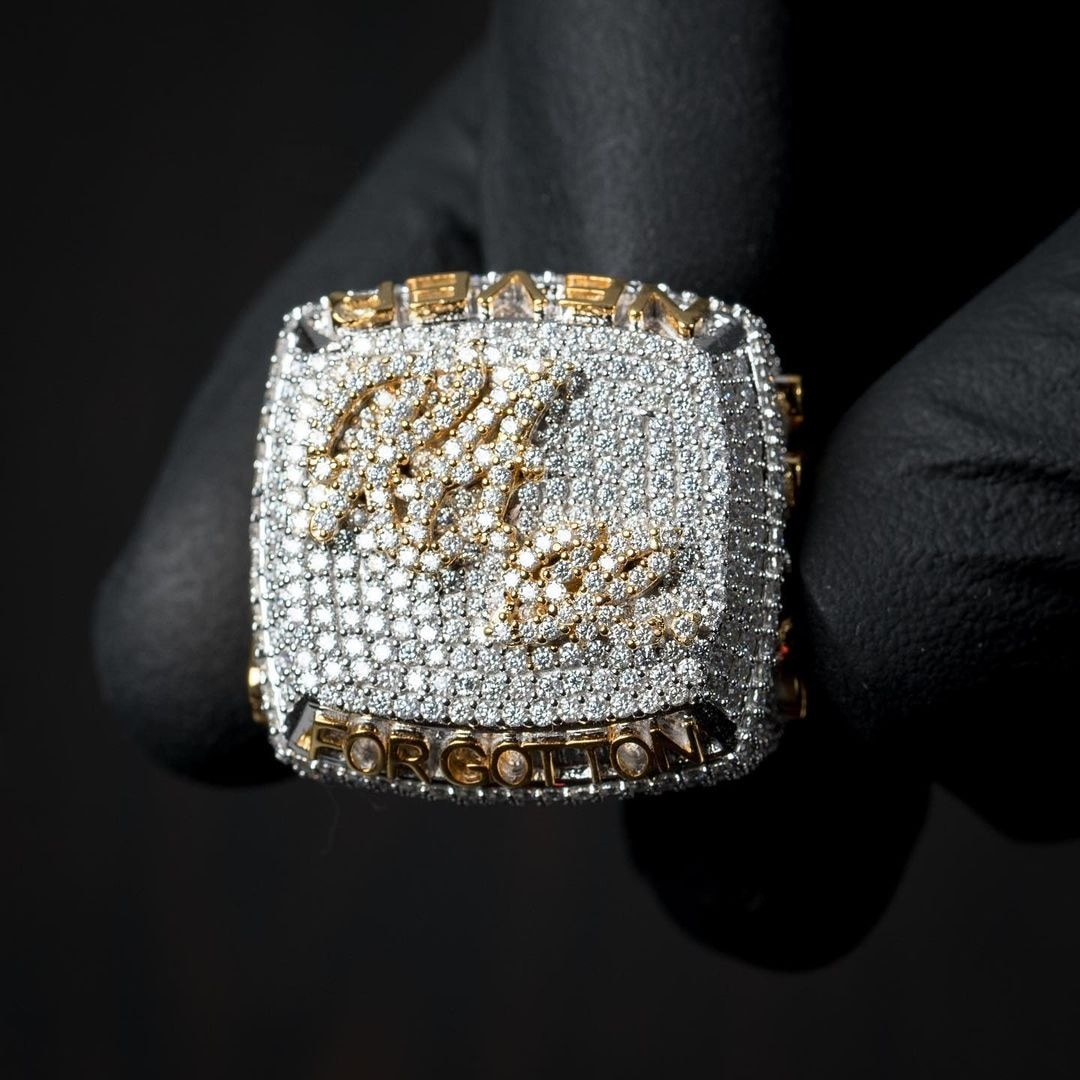 P&Y Custom 2021 Luxury Hiphop S925 Full Iced Out Moissanite Diamond Champion Men Championship Rings