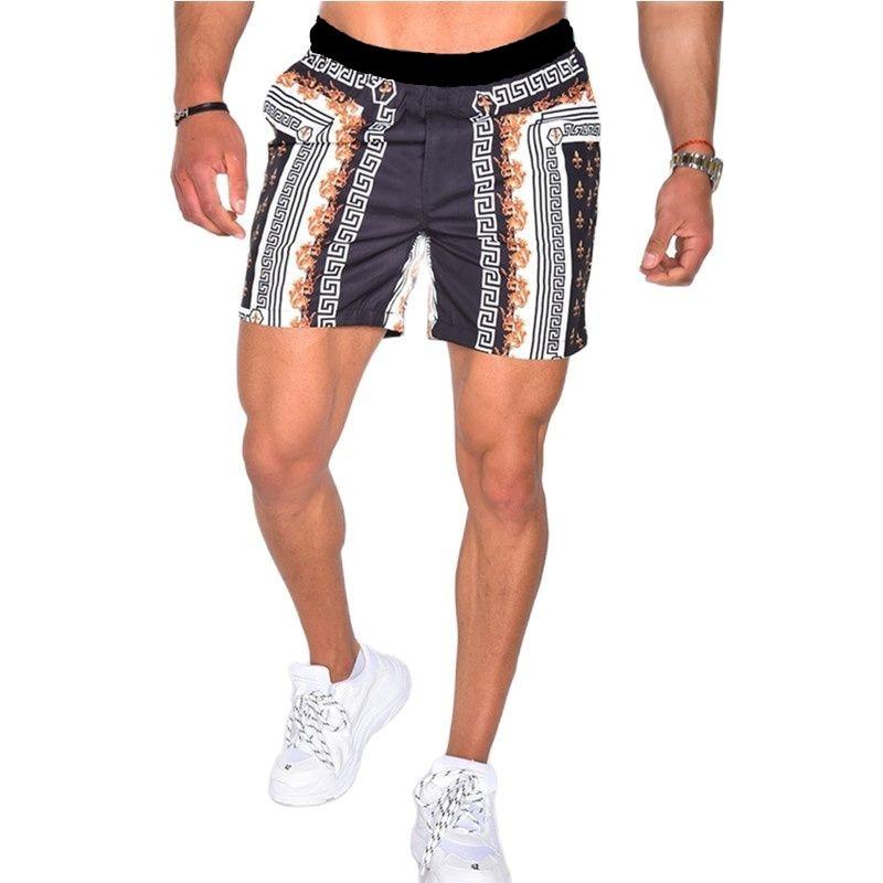 Шорты мужские пляжные, плавки, удобные мужские купальники, быстросохнущие дышащие шорты для фитнеса и серфинга, свободные мужские шорты с п...