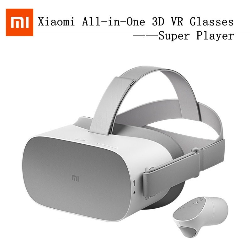 Xiaomi סופר נגן 3D VR משקפיים AR כל-ב-אחד אלחוטי WIFI קסדת VR משחקי ידית 360 4K HD 3G + 32 פנורמי סראונד טלוויזיה