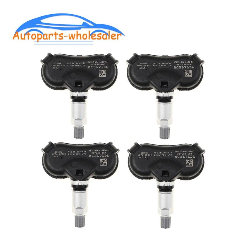 4 pcs/lot New Car 42753-SHJ-A53 42753SHJA53 For Honda Acura TPMS Tire Pressure Monitor Sensor Auto P
