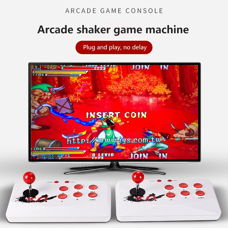 2000+ Games Retro Video Game Console Wireless Double Stick Arcade Super Console Box Support HDMI-compatible Output Dual Players