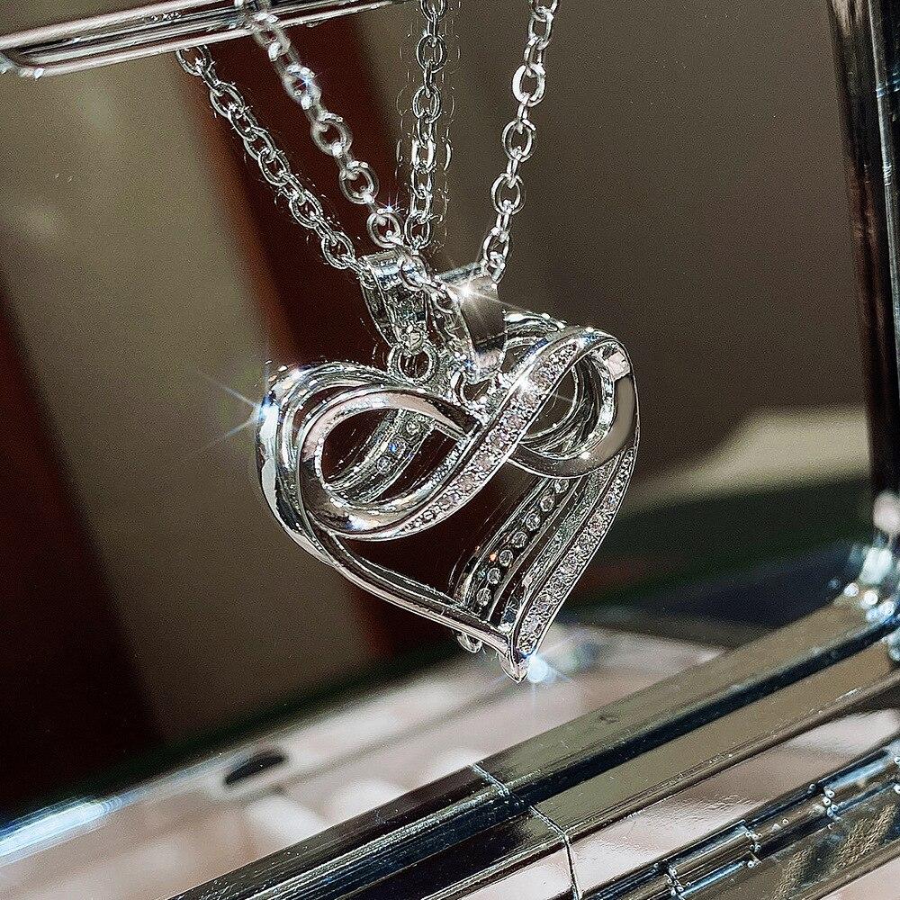 Женское-ожерелье-из-серебра-925-пробы-с-подвеской-в-виде-сердца