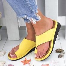 Zapatos de plataforma de cuero sintético para dama, calzado femenino con plataforma, cómodos, de suela plana, casual, suave, con corrección para pies, sandalia ortopédica