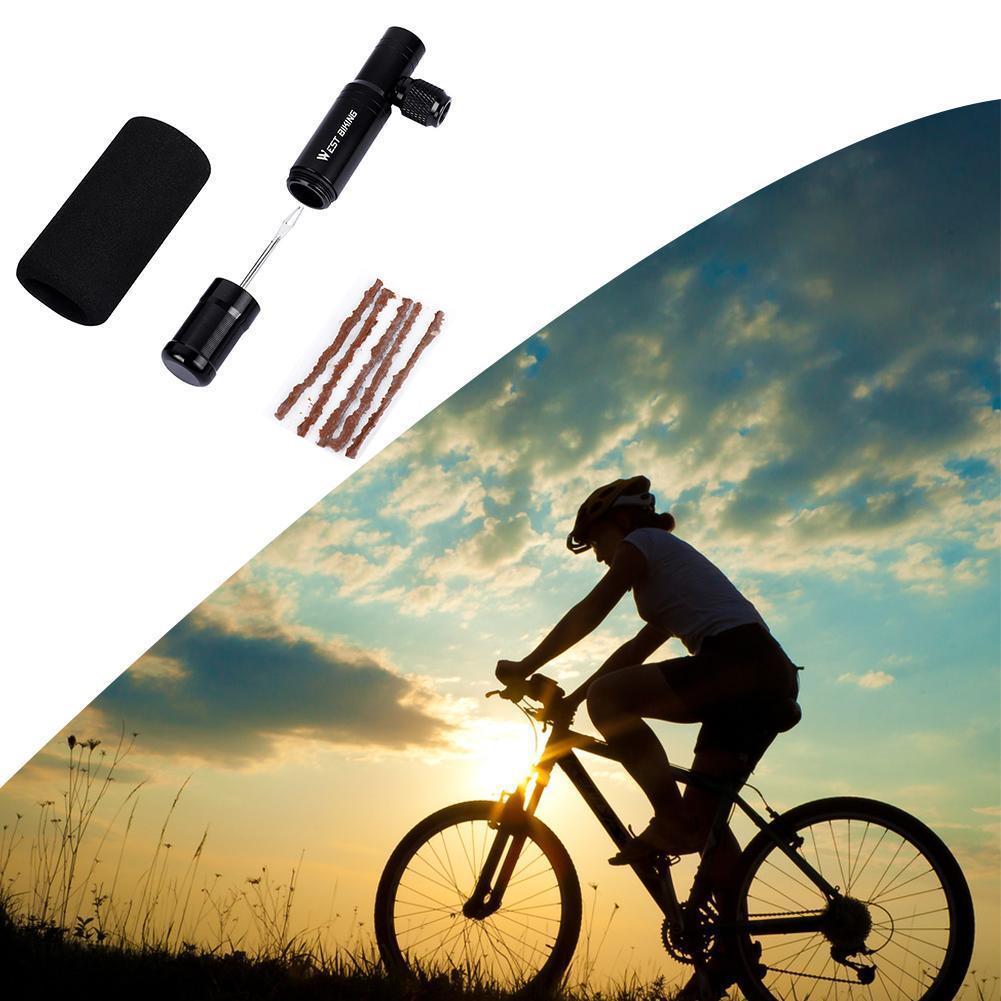 2 in 1 Mini Bike Pump CO2 Inflator Bicycle Tubeless Tool Schrader Air & Tire Valve Pump MTB Repair Presta Cycling Y9H9