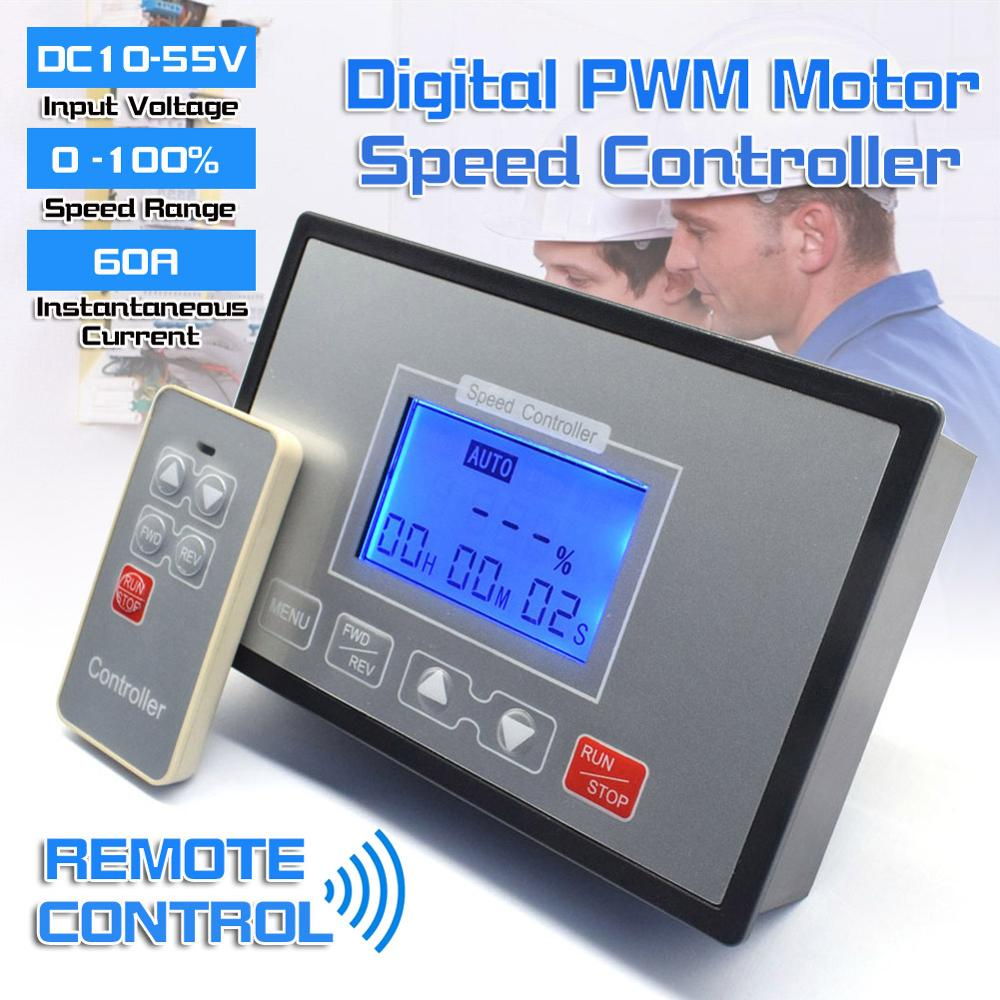 lcd inteligente display digital 0 adjustable 100 ajustavel 60a pwm dc controlador