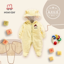 Baby's one-piece Romper baby winter thickened cotton padded jacket for newborn