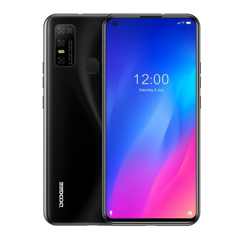 DOOGEE N30 смартфон 6,55 дюйм IPS Экран 4 Гб + 128 ГБ MTK6762V Octa core Android 10 распознавания лиц и Dual core 4G мобильный телефон 4180 мАч 5 AI Cam