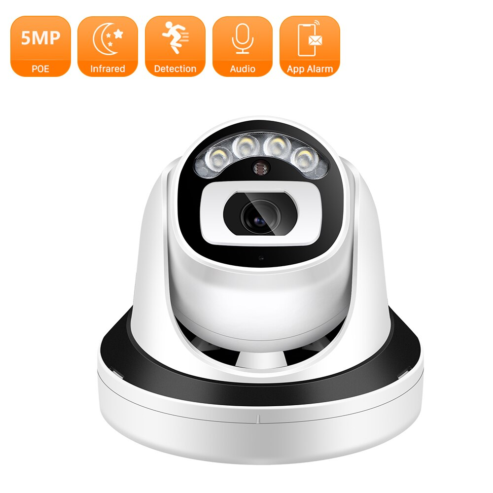 5MP PoE IP Camera 3MP 2MP Dome IR Night Vision P2P Security Camera H.265 Vandal-proof External Video Camera Surveillance ICSEE