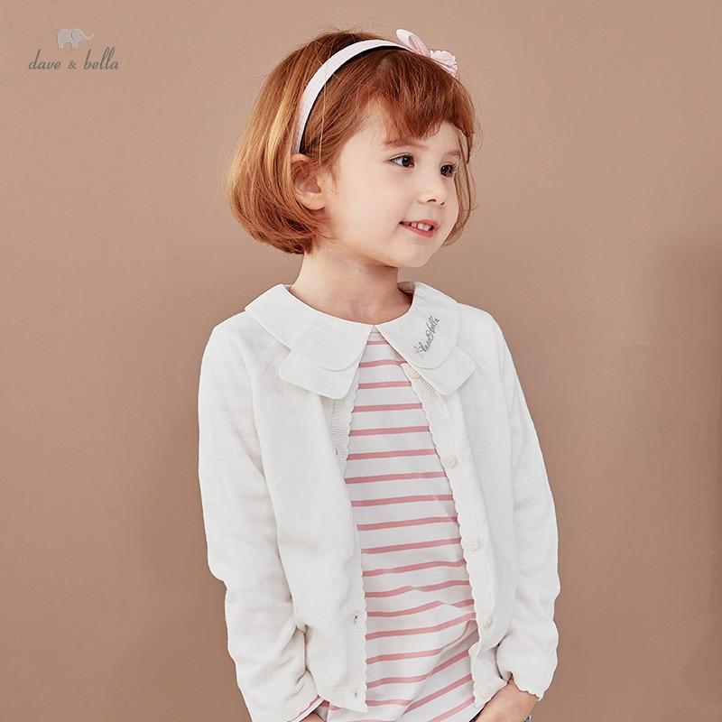 DKY17161 1 нижнее белье в стиле бренда dave bella/весенняя одежда для младенцев Одежда для маленьких девочек модные От 5 до 13 лет однотонный кардиган для детей ясельного возраста, пальто для детей, милый вязаный свитер|Свитера| | АлиЭкспресс