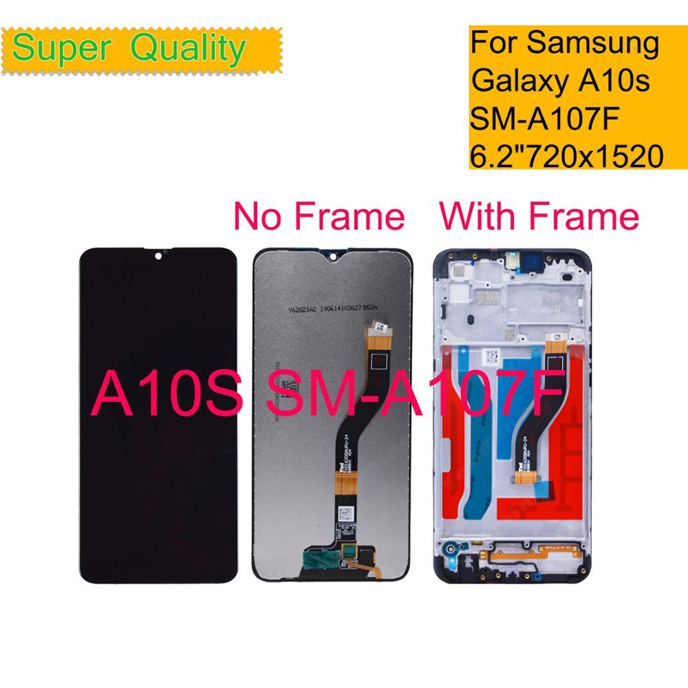 10 unids/lote LCD para Samsung Galaxy A10S A107 A107F SM-A107F pantalla LCD Monitor módulo pantalla digitalizador montaje con marco