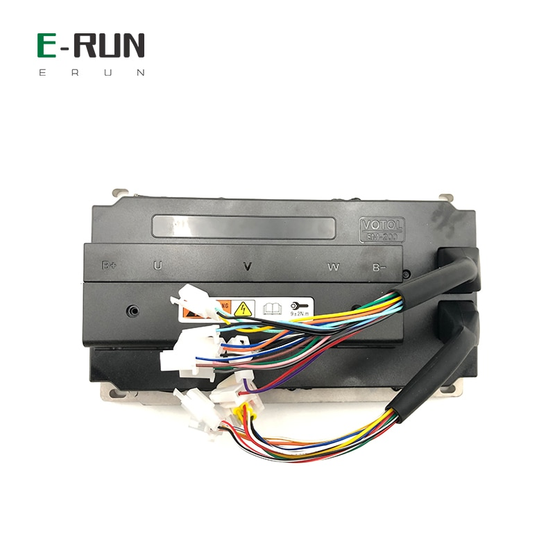 Programmable 220A Votol EM200S With CAN BUS Sine Wave Motor Controller For QS 4KW Mid Drive Motor enlarge