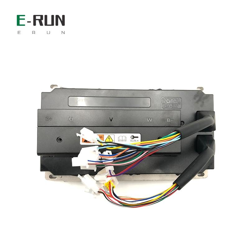 48 فولت-72 فولت 220A PMSM EM200S مع وقوف السيارات عكس موجة جيبية 4KW 5KW يمكن حافلة وحدة تحكم المحرك ل QS منتصف محرك الأقراص