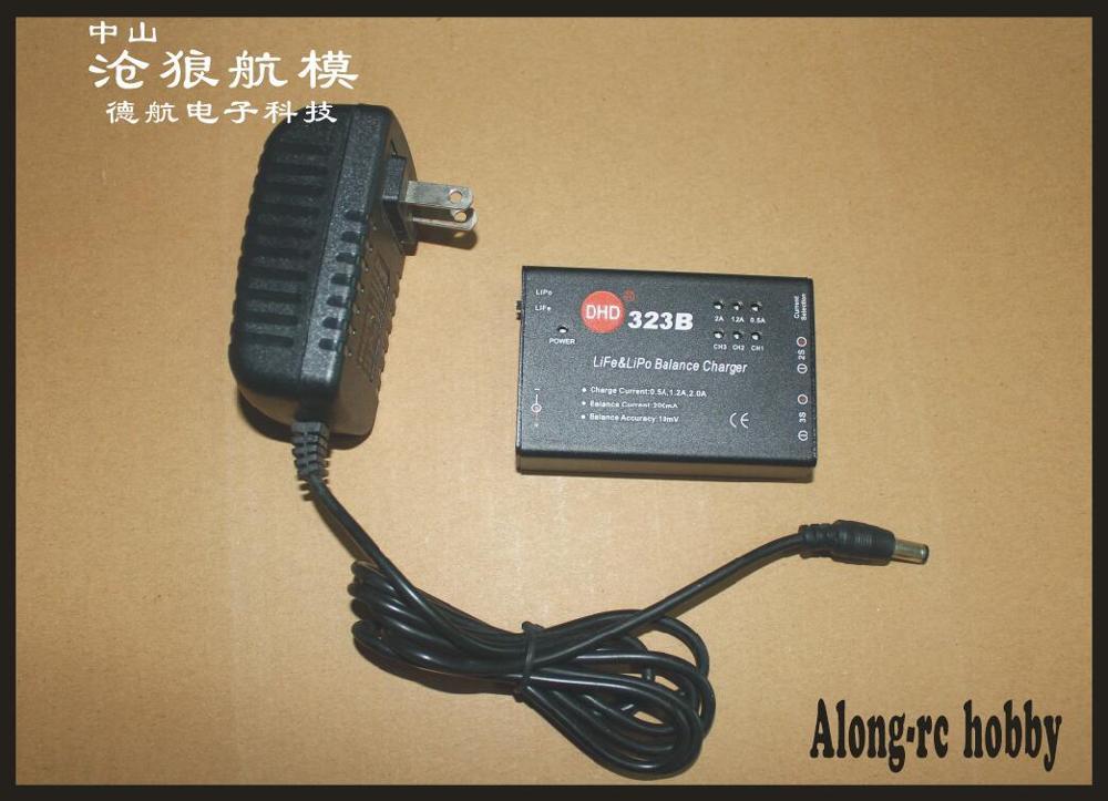 Cargador de batería li-po life 2S, 7,4 v, 3S, 11,1 v, cargador de batería 323B con adaptador (110-240V), 2-3 celdas, envío gratis