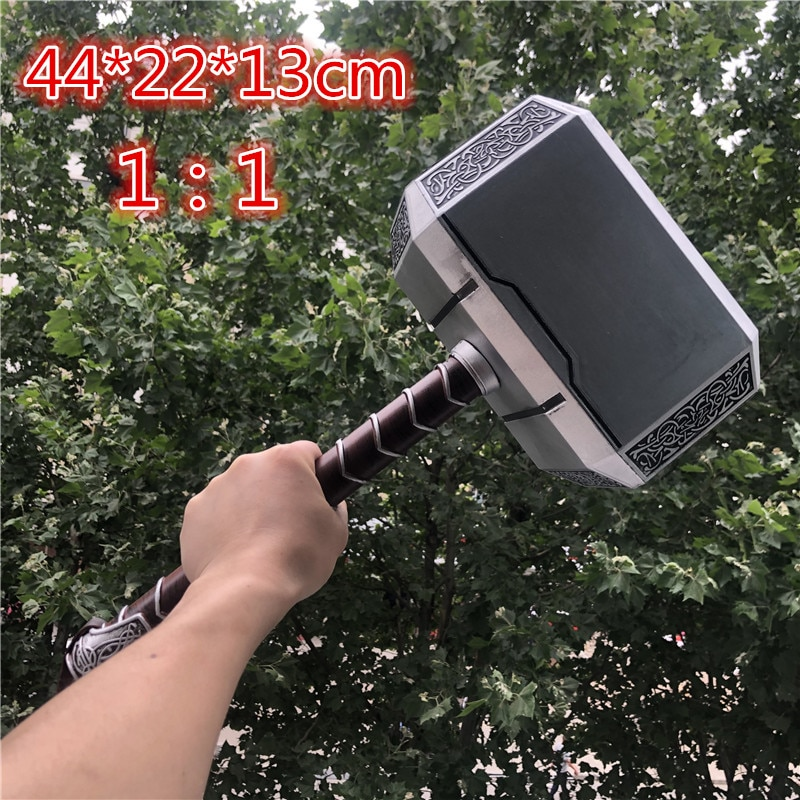 44cm 's Hammer Cosplay 1:1 Thunder Hammer Figure Weapons Model Kids Gift Movie Role Playing Safety P
