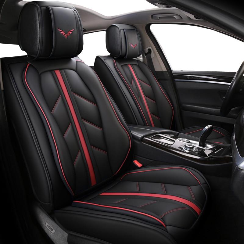 Funda de asiento de coche de cuero especial de alta calidad para Hummer h3 hyundai accent 2007 2010 creta ix25 elantra azul