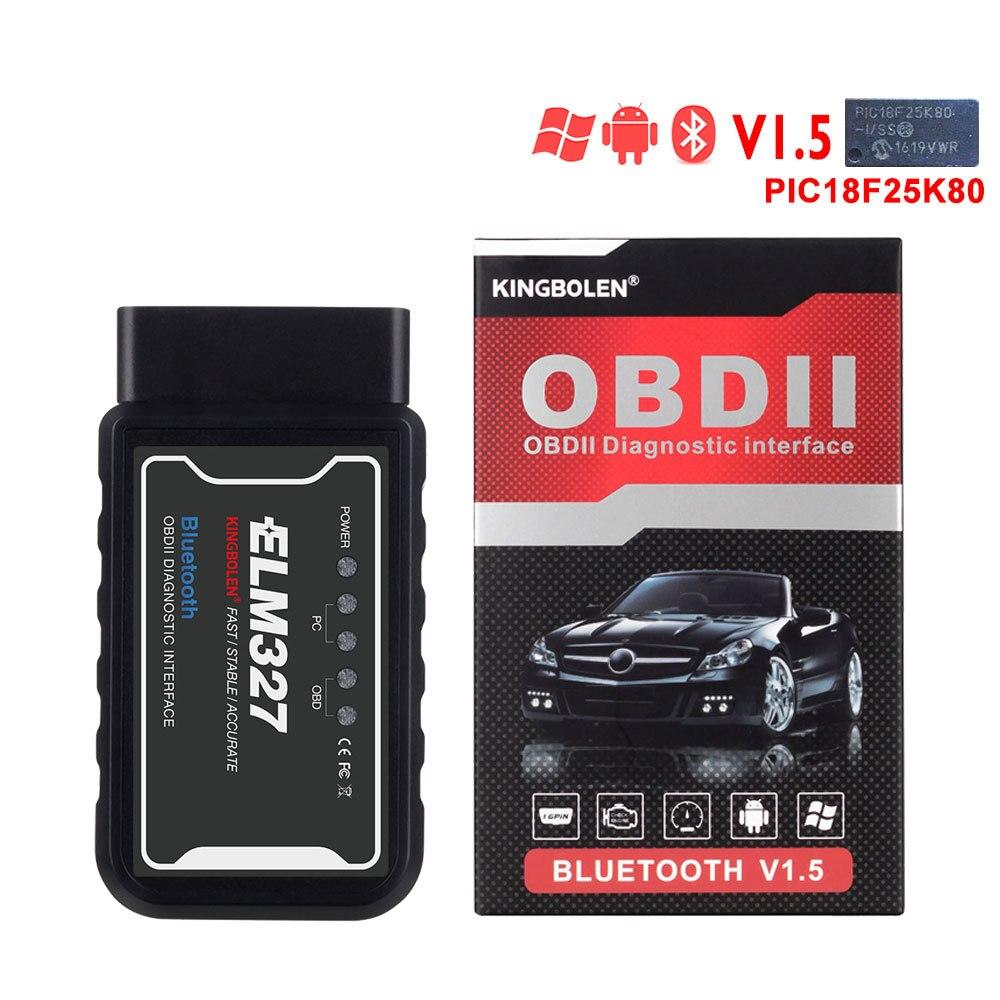 OBD2 ELM327 Bluetooth сканер OBD Автомобильный тестовый инструмент V1.5 считыватель кодов автомобиля диагностический инструмент Android OBDII Автомобильный ...