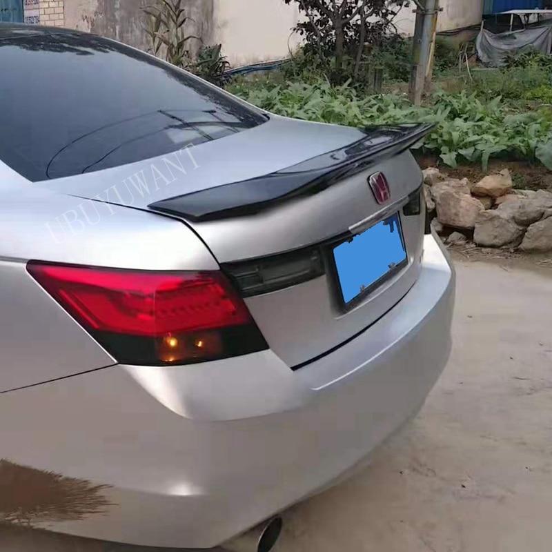 Ajuste para Accord 2008 2009 2010 2011 ABS/fibra de carbono Exterior alerón trasero maletero arranque ala decoración coche estilo