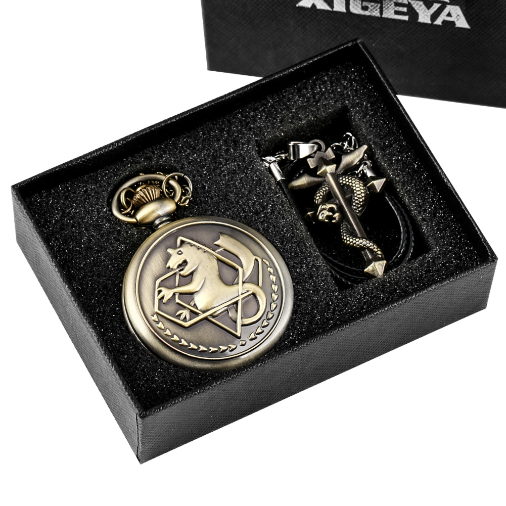 Retro Tone Fullmetal Alchemist High Grade Gifts Sets Pocket Watch Cosplay Edward Elric Anime Design