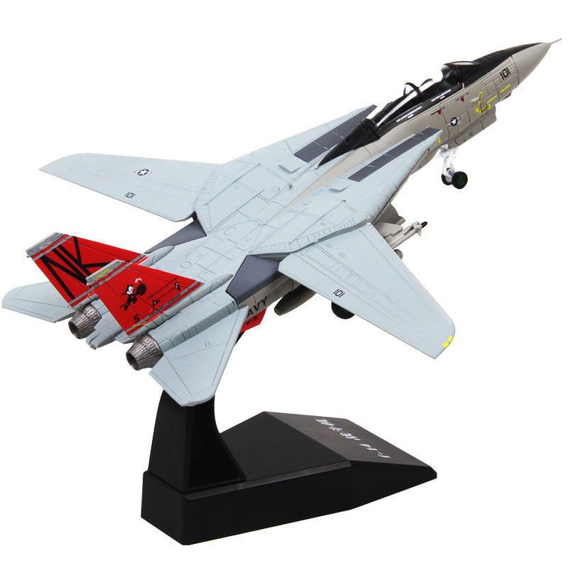 1/100th Scale F-14  Fighter Air Force Simulation Aircraft Model Diecast Airplane Toy Gift недорого