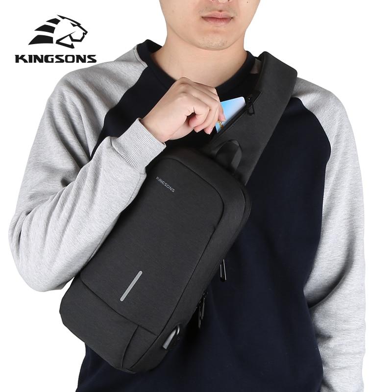 KINGSONS-حقيبة كتف رجالية ، حقيبة كتف ذات علامة تجارية ، حقيبة حمل عالية الجودة ، حقيبة ساعي أعمال ، بوليستر ، مقاس كبير