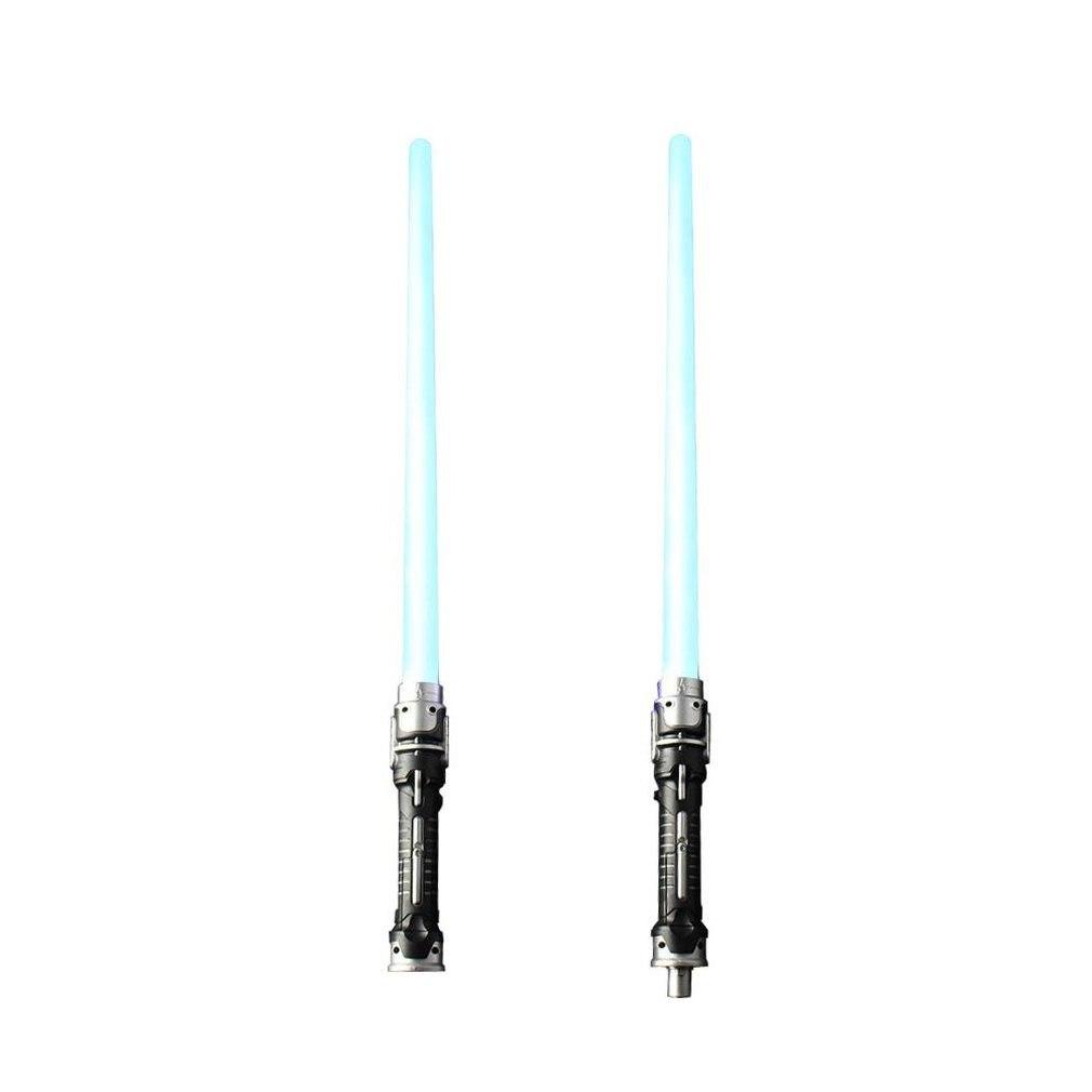 Star Earth Fighting espada de juguete brillante dos en uno espada láser efecto de sonido Luz Azul 2 uds niño juguete