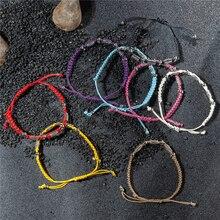 Bohemian String Bracelets for Women Men Teens Vintage Handmade Wax Rope Woven Bracelets