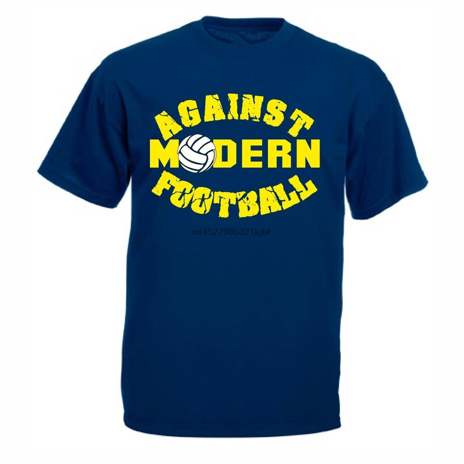 Camiseta de fútbol contra el fútbol moderno, conjunto de seguidor de Ultra terraza, ropa de calle para hombre, camisetas casuales graciosas clásicas a la moda