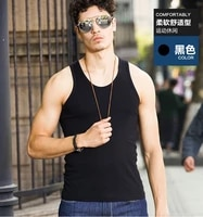 mens sleeveless tank top solid muscle vest slimfit vest breathable sports bottoming shirt undershirt o neck gymclothing tee top