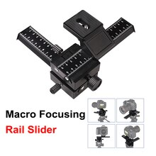 4 способа макросъемки рельс слайдер Макросъемка головка штатива 1/4 винт для DSLR камеры для Canon Sony Nikon Fujifilm