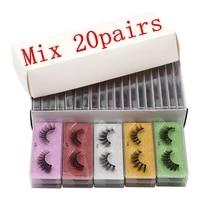 yxc wholesale fluffy full strip mink lashes 25mm false eyelashes cruelty free eyelashes extension supplies with eyelashes box