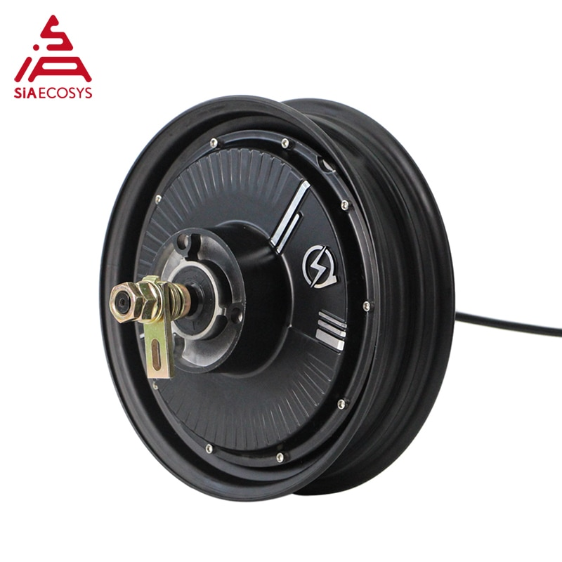 QSMOTOR 10x2.15inch 2000W 48V 35kph Hub Motor with EM50SP controller and kits for low speed high torque Electric Scooter Tricycl enlarge